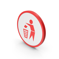Icon Do Not Litter Red PNG & PSD Images