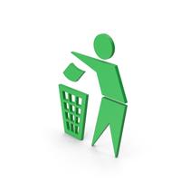 Symbol Do Not Litter Green PNG & PSD Images