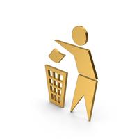 Symbol Do Not Litter Gold PNG & PSD Images