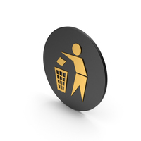 Do Not Litter Gold Icon PNG & PSD Images