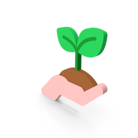 Hand with Plant Icon PNG & PSD Images
