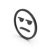 Emoji Angry / Bored Black PNG & PSD Images