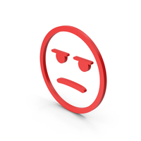 Emoji Angry / Bored Red PNG & PSD Images