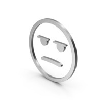 Emoji Angry / Bored Silver PNG & PSD Images