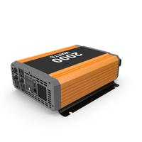 Power Inverter Orange New PNG & PSD Images