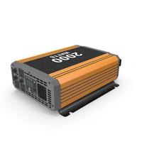 Power Inverter Used Orange PNG & PSD Images
