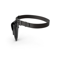 Holster and Strap Black PNG & PSD Images