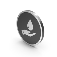 Silver Icon Save Water PNG & PSD Images