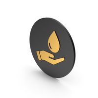 Save Water Gold Icon PNG & PSD Images