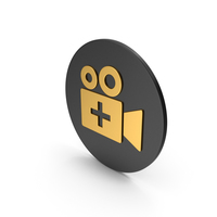 Add Video Gold Icon PNG & PSD Images