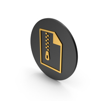 Archived File Gold Icon PNG & PSD Images