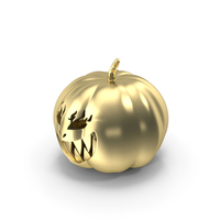 Evil Smile Horror Halloween Pumpkin Gold PNG & PSD Images