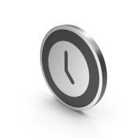 Silver Icon Time Clock PNG & PSD Images