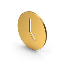 Symbol Time Clock Gold PNG & PSD Images