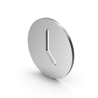 Symbol Time Clock Silver PNG & PSD Images