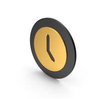Time Clock Gold Icon PNG & PSD Images