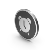 Silver Icon Alarm Clock PNG & PSD Images