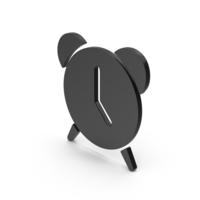 Alarm Clock Black Symbol PNG & PSD Images