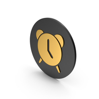 Alarm Clock Gold Icon PNG & PSD Images