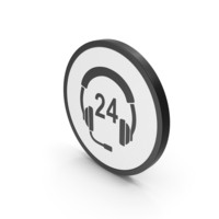 Icon 24 Hour Support PNG & PSD Images