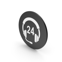 24 Hour Support Icon PNG & PSD Images