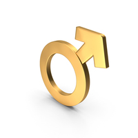 Male Gender Icon Gold PNG & PSD Images