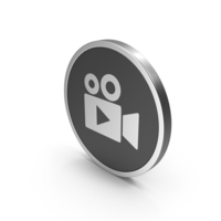 Silver Icon Video Camera PNG & PSD Images