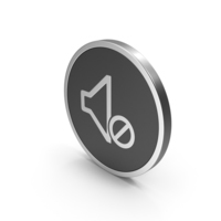 Silver Icon Sound OFF PNG & PSD Images
