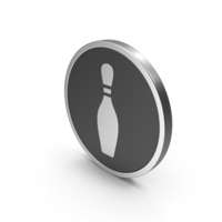 Silver Icon Bowling Pin PNG & PSD Images