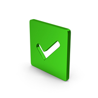 Checkmark Green Metallic PNG & PSD Images