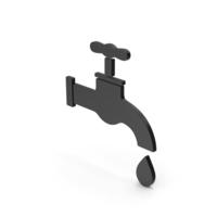 Save Water Faucet Black Symbol PNG & PSD Images