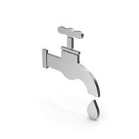 Save Water Faucet Silver Symbol PNG & PSD Images