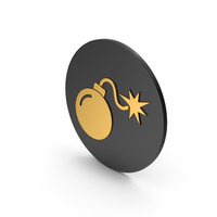 Bomb Gold Icon PNG & PSD Images