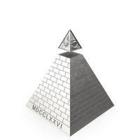 Illuminati Pyramid Silver PNG & PSD Images