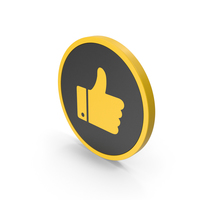 Icon Like Yellow PNG & PSD Images