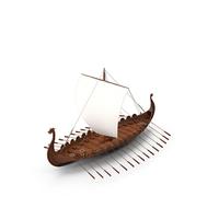 Viking Drakkar Sail Raised PNG & PSD Images