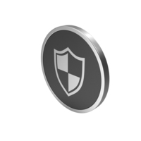 Silver Icon Shield PNG & PSD Images