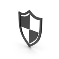 Shield Black Symbol PNG & PSD Images