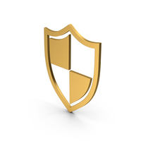 Symbol Shield Gold PNG & PSD Images