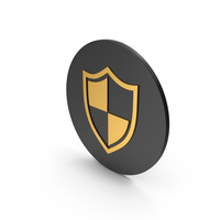 Shield Gold Icon PNG & PSD Images