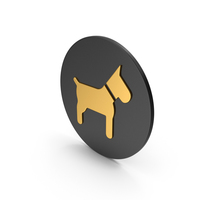 Dog Gold Icon PNG & PSD Images