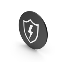 Shield With Lighting Icon PNG & PSD Images