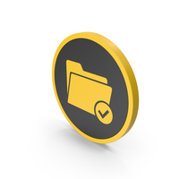 Icon Tick Folder Yellow PNG & PSD Images