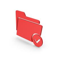 Symbol Tick Folder Red PNG & PSD Images