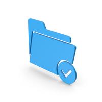 Symbol Tick Folder Blue PNG & PSD Images