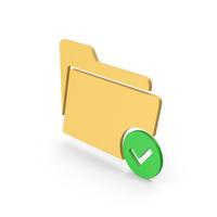 Tick Folder Colored Symbol PNG & PSD Images