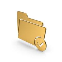 Symbol Tick Folder Gold PNG & PSD Images