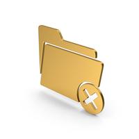 Symbol Remove Folder Gold PNG & PSD Images