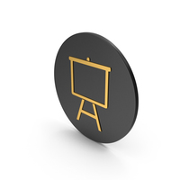 Presentation Board Gold Icon PNG & PSD Images