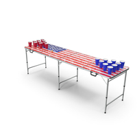 Beer Pong Table USA Style PNG & PSD Images